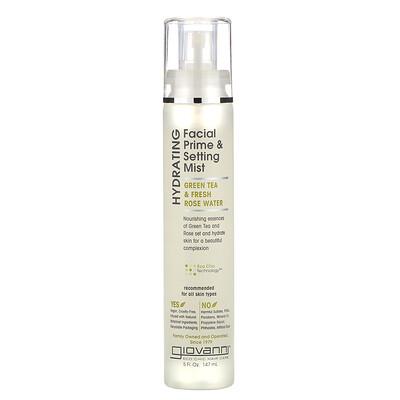 Купить Giovanni Hydrating Facial Prime & Setting Mist, Green Tea & Fresh Rose Water, 5 fl oz (147 ml)