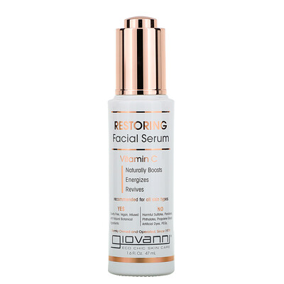 Giovanni Restoring Facial Serum, Vitamin C, 1.6 fl oz (47 ml)