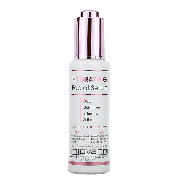 Hydrating Facial Serum, Rose, 1.6 fl oz (47 ml)