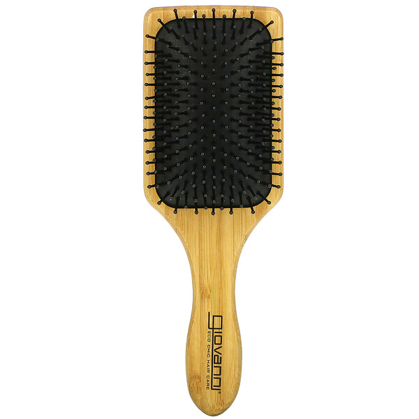 Bamboo Paddle Hairbrush, 1 Brush