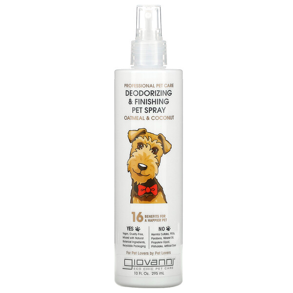 Professional Pet Care, Deodorizing & Finishing Pet Spray, Oatmeal & Coconut, 10 fl oz (295 ml)