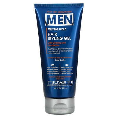 Art Of Giovanni, Men Hair Styling Gel with Ginseng and Eucalyptus, 6.8 fl oz (201 ml)