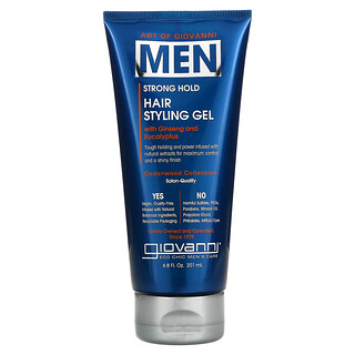 Giovanni, Art Of Giovanni, Men Hair Styling Gel with Ginseng and Eucalyptus, 6.8 fl oz (201 ml)