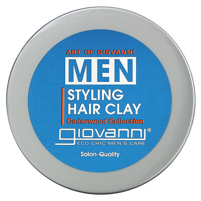 Art Of Giovanni Men, Styling Hair Clay, Cedarwood Collection, 2 oz (56 g)