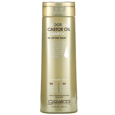 Giovanni Smoothing Castor Oil Shampoo, For All Hair Types, 13.5 fl oz (399 ml)