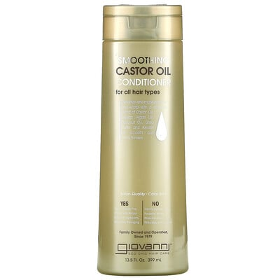 Giovanni Smoothing Castor Oil Conditioner, For All Hair Types, 13.5 fl oz (399 ml)