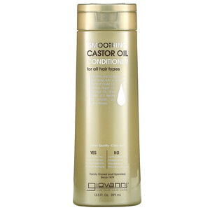 Giovanni, Smoothing Castor Oil Conditioner, For All Hair Types, 13.5 fl oz (399 ml)