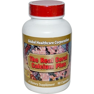 Global Healthcare, The Real Coral Calcium Plus, 90 Capsules
