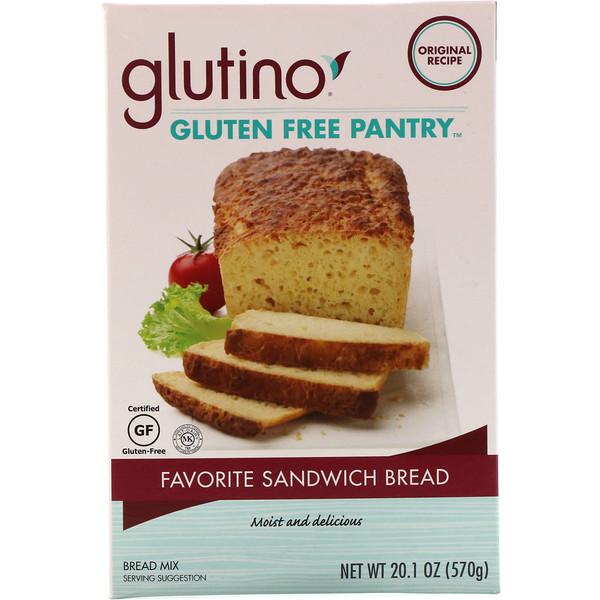 Glutino, Favorite Sandwich Bread Mix, 20.1 oz (570 g) (Discontinued Item)
