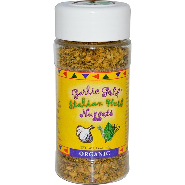 Garlic Gold, Organic Italian Herb Nuggets, 1.6 oz (45 g) (Discontinued Item)