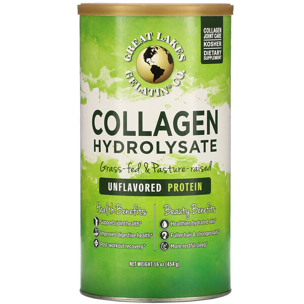 Great Lakes Gelatin Co., Collagen Hydrolysate, Unflavored, 16 oz (454 g)