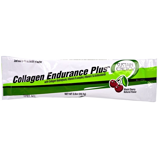Great Lakes Gelatin Co., Collagen Endurance Plus, Black Cherry Flavor, 10 Packets, (22.7 g) Each (Discontinued Item)
