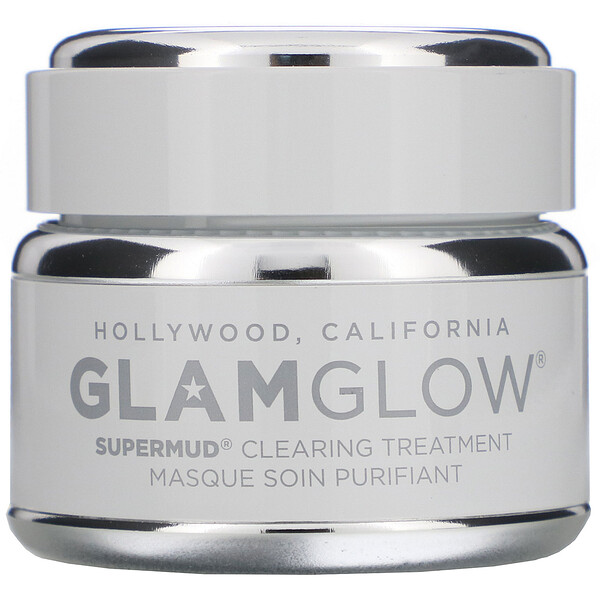 GLAMGLOW, SuperMud, Clearing Treatment Mask, 1.7 oz (50 g) (Discontinued Item)