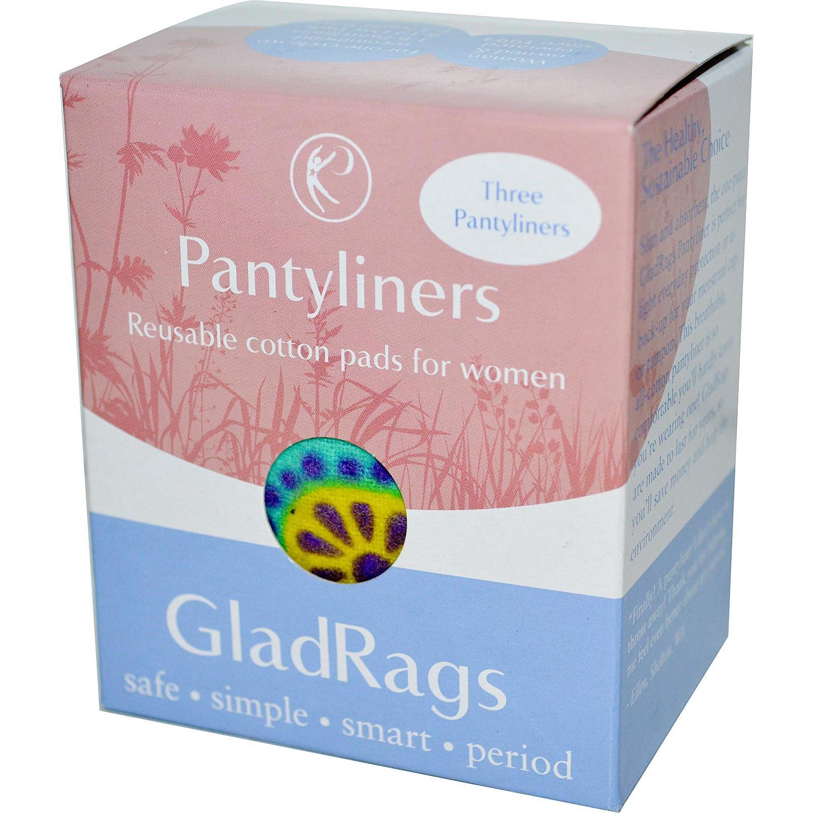 GladRags, Гигиенические прокладки многоразового использования, 3 прокладки