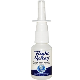 Global Source, フライト・スプレー、エアトラベラーのための、初の鼻腔水和スプレー、1 液体オンス(30 ml)