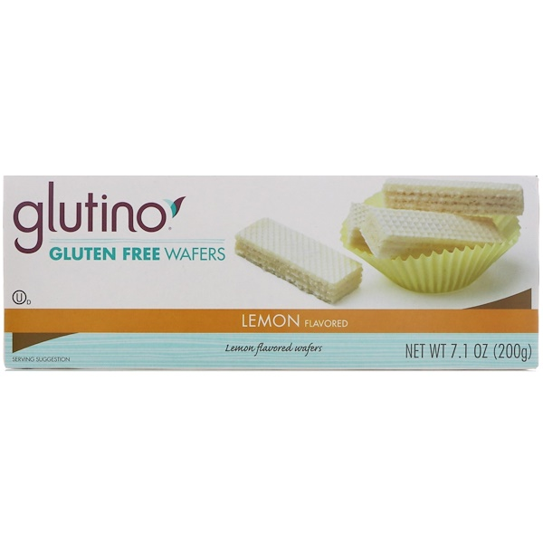 Glutino, Gluten Free Wafers, Lemon Flavored, 7.1 oz (200 g) (Discontinued Item)