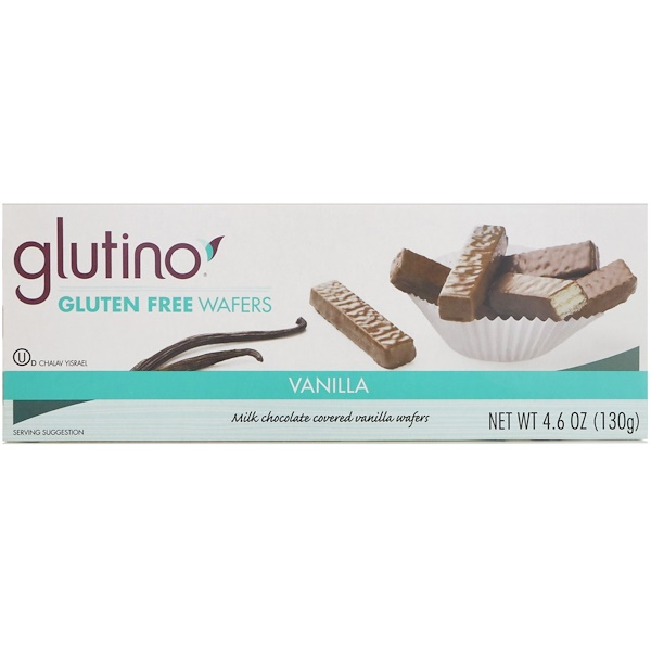 Glutino, Gluten Free Wafers, Vanilla, 4.6 oz (130 g) (Discontinued Item)
