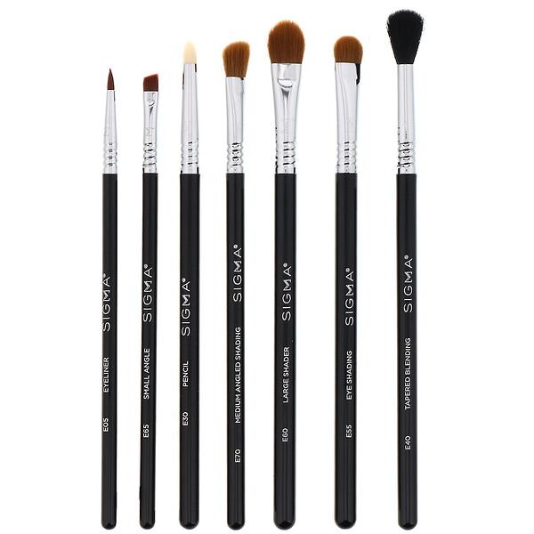 Sigma, Basic Eye Brush Set, 7 Piece Set