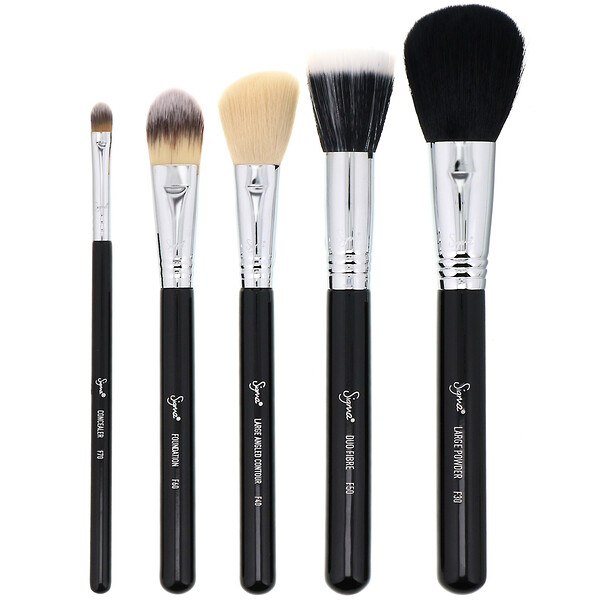 Sigma, Basic Face Brush Set, 5 Piece Set (Discontinued Item)