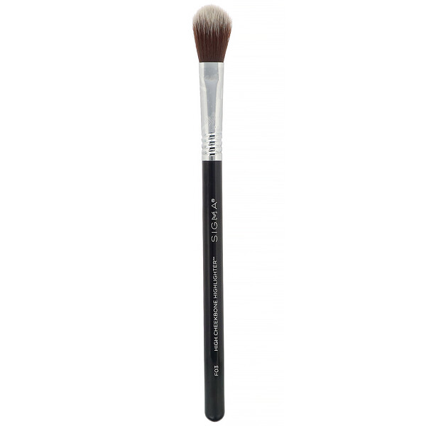 Sigma, F03, High Cheekbone Highlighter Brush, 1 Brush