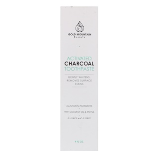 Gold Mountain Beauty, Activated Charcoal Toothpaste, Mint, 4 fl oz