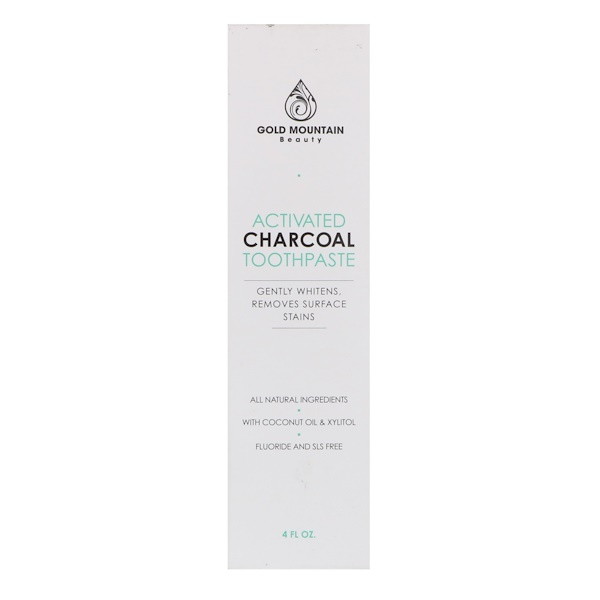 Gold Mountain Beauty, Activated Charcoal Toothpaste, Mint, 4 fl oz (Discontinued Item)