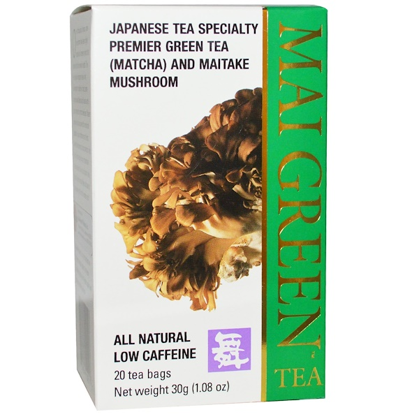 Mushroom Wisdom, Mai Green Tea, 20 Tea Bags, 1.08 oz (30 g) (Discontinued Item)
