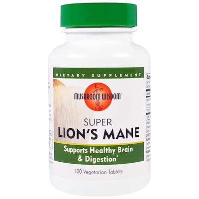 Super Lion's Mane, 120 вегетарианских таблеток  - купить со скидкой