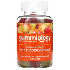 Gummiology, Adult Apple Cider Vinegar Gummies, Apfelessig-Fruchtgummis für Erwachsene, natürlicher Apfelgeschmack, 90vegetarische Fruchtgummis