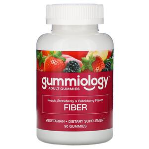 Gummiology, Adult Fiber Gummies, Natural Peach, Strawberry, & Blackberry Flavors, 90 Vegetarian Gummies отзывы