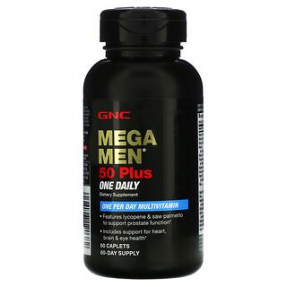 GNC, Mega Men, 50 Plus One Daily Multivitamin, 60 Caplets