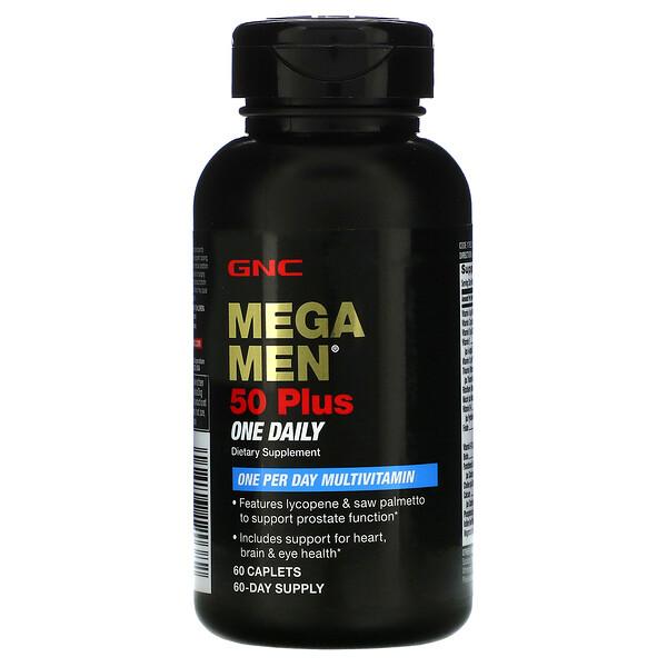 GNC, 50 Plus OnceDaily, мультивитамины для женщин старше 50 лет, для приема один раз в день, 60капсул