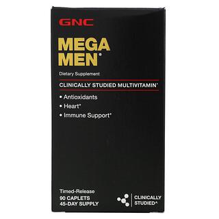 GNC, Mega Men, Multivitamin, 90 Caplets