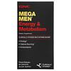 GNC, Mega Men, клинически изученные мультивитамины для мужчин, для энергии и метаболизма, 90капсул с замедленным высвобождением