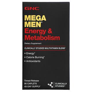 GNC, Mega Men, Energy & Metabolism, Clinically Studied Multivitamin, 90 Time-Release Caplets