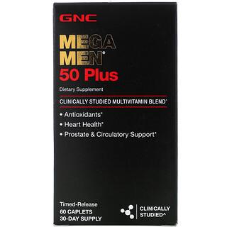 GNC, Mega Men, 50 Plus Multivitamin, 60 Timed-Release Caplets
