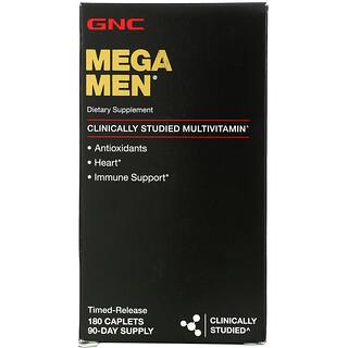 GNC, Mega Men, Clinically Studied Multivitamin, 180 Caplets
