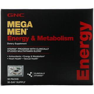 GNC, Mega Men, Energy & Metabolism, Vitapak Multivitamin Blend, 30 Packs