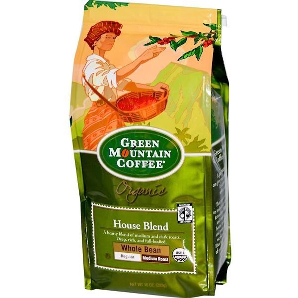 Green Mountain Coffee, Органический кофе в зернах, средней поджарки 10 унции (283 г) (Discontinued Item)