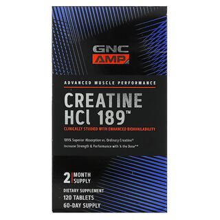 GNC, AMP, Creatine HCl 189, 120 Tablets
