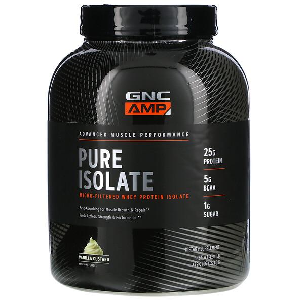 Pure Isolate, Micro-Filtered Whey Protein Isolate, Vanilla Custard, 4.94 lb (2240 g)