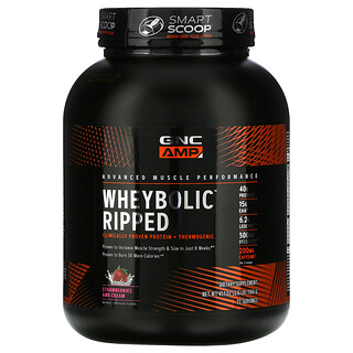 GNC, AMP, WheyBolic Ripped, Strawberries and Cream, 2.6 lb (1166 g)