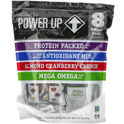 Power Up On-The-Go Snacking, Assorted Flavors, 8 Snack Packs, 2.25 oz Each