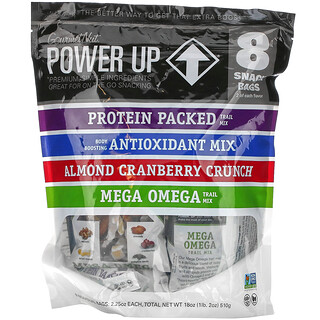 Power Up, On-The-Go Snacking, Assorted Flavors, 8 Snack Packs, 2.25 oz Each
