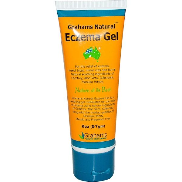 Grahams Natural Alternatives, Eczema Gel, Fragrance Free, 2 oz (57 g) (Discontinued Item)