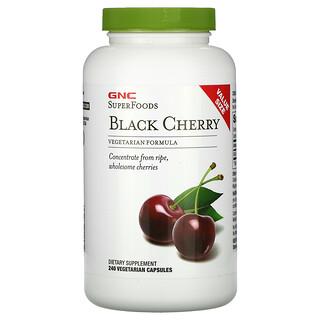 GNC, SuperFoods,黑櫻桃,240 粒素食膠囊