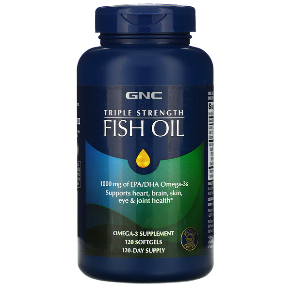 Triple Strength Fish Oil, 1000 mg, 120 Softgels