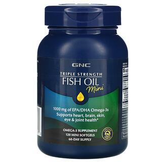 GNC, Triple Strength Fish Oil Mini, 120 Mini Softgels