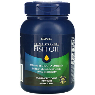 GNC, Triple Strength Fish Oil, 60 Softgels