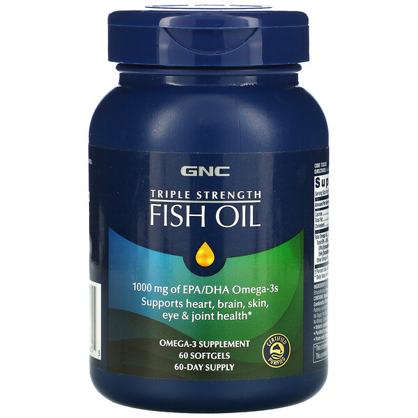 Triple Strength, Fish Oil, 60 Softgels